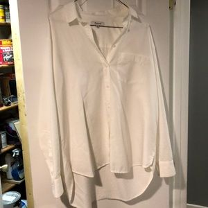 Madewell oversized white button down shirt